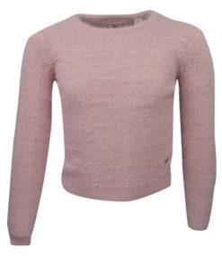 Μπλούζα ροζ πλεκτή μακρυμάνικη
