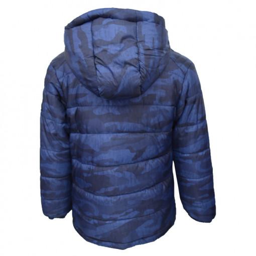 Μπουφάν παραλλαγής μπλε με φερμουάρ πίσω μέρος