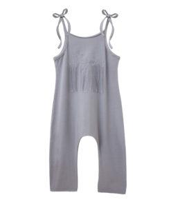 Ολόσωμη γκρι φόρμα με τιράντα