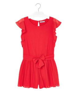 Ολόσωμη φόρμα κόκκινη με φιόγκο