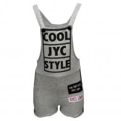 """Ολόσωμη φόρμα με τιράντες γκρι """"Cool Jyc Style"""""""