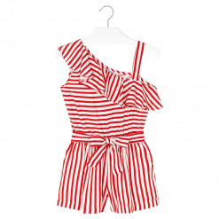 Ολόσωμη φόρμα ριγέ κόκκινη