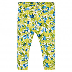 """Παντελόνι κίτρινο μακρύ """"Λουλουδάκια"""""""