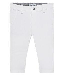 Παντελόνι λευκό λοξότσεπο καπαρτινέ