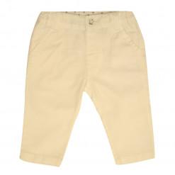 Παντελόνι λευκό με κουμπί και λοξή τσέπη