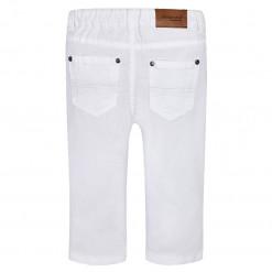 Παντελόνι λευκό τύπου τζιν με μεταλλικό κουμπί πίσω μέρος
