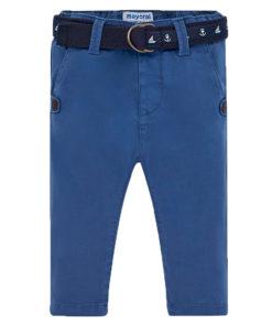 Παντελόνι λοξότσεπο μπλε και ζώνη με αυτοκινητάκια