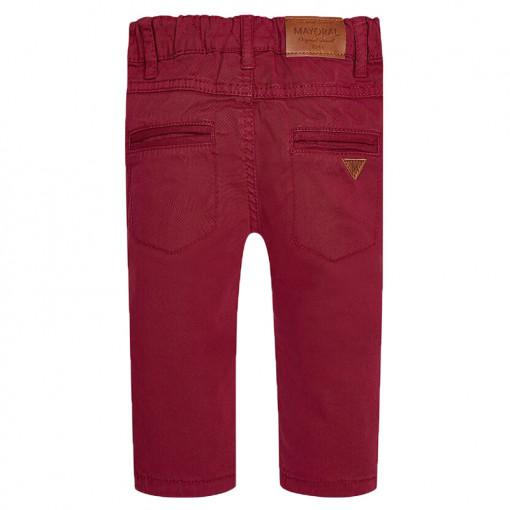 Παντελόνι μακρύ κόκκινο καμπαρντινέ πίσω μέρος