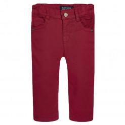 Παντελόνι μακρύ κόκκινο καμπαρντινέ
