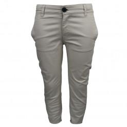 Παντελόνι μακρύ μπεζ με κουμπιά στις πίσω τσέπες