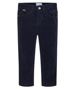 """Παντελόνι μαύρο μακρύ κοτλέ """"Slim Fit"""""""