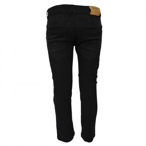 Παντελόνι μαύρο με τσέπες και διακοσμητικό φερμουάρ πίσω μέρος