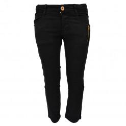 Παντελόνι μαύρο με τσέπες και διακοσμητικό φερμουάρ