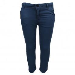 Παντελόνι μπλε μακρύ λοξότσεπο με κουμπί