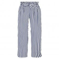 Παντελόνι ριγέ μπλε με ζώνη και φιόγκο πίσω μέρος