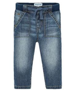 Παντελόνι τζιν με λάστιχο στην μέση και κορδόνι