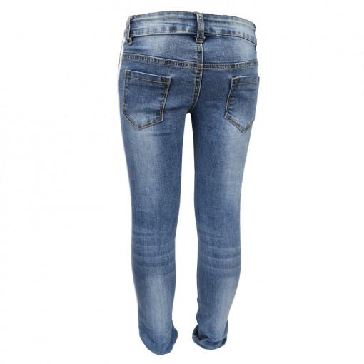 Παντελόνι τζιν με ρίγες στο πλάι πίσω μέρος