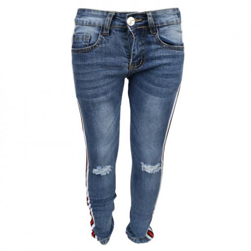 Παντελόνι τζιν με ρίγες στο πλάι