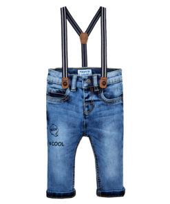 """Παντελόνι τζιν με τιράντες """"Slim Fit"""""""