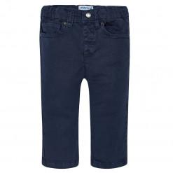 Παντελόνι τύπου τζιν μπλε με μεταλλικό κουμπί