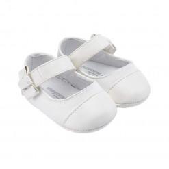 Παπούτσια αγκαλιάς λευκά μπαρέτες