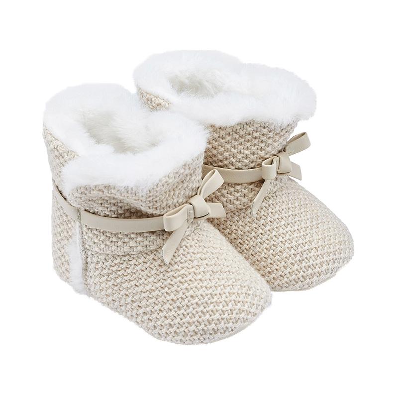 192f2447e4b Παπούτσια αγκαλιάς μποτάκια με φιόγκο - Παπούτσια αγκαλιάς