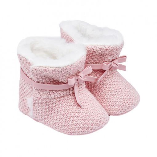 Παπούτσια αγκαλιάς μποτάκια ροζ με φιόγκο