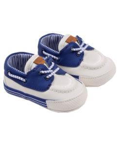 Παπούτσια αγκαλιάς ναυτικά μπλε με κορδόνι