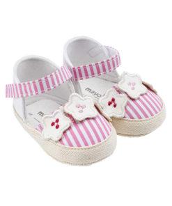 """Παπούτσια αγκαλιάς ροζ εσπαντρίγιες """"Λουλουδάκια"""""""