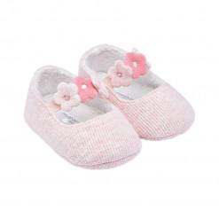 """Παπούτσια αγκαλιάς ροζ """"Λουλουδάκια"""""""