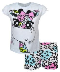 """Πιτζάμα με κοντομάνικη μπλούζα και σορτσάκι """"Baby Giraffe"""""""