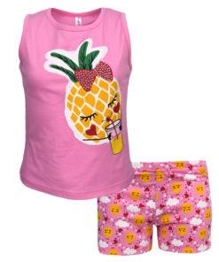 beae39e0e9a4 Πιτζάμα με αμάνικη μπλούζα φούξια και σορτσάκι ροζ