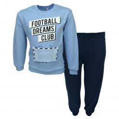 """Πιτζάμα με γαλάζια μακρυμάνικη μπλούζα και μπλε παντελόνι """"Football Dreams Club"""""""