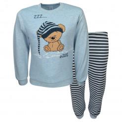 """Πιτζάμα με γαλάζια μακρυμάνικη μπλούζα και παντελόνι """"Zzz"""""""