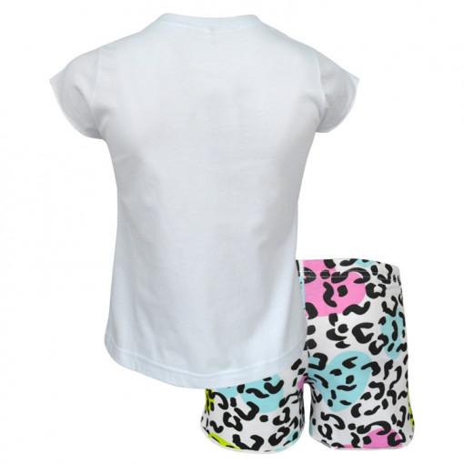 """Πιτζάμα με κοντομάνικη μπλούζα και σορτσάκι """"Baby Giraffe"""" πίσω μέρος"""