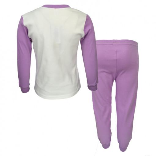 """Πιτζάμα με μακρυμάνικη μπλούζα και μωβ παντελόνι """"Νεράιδες"""" πίσω μέρος"""