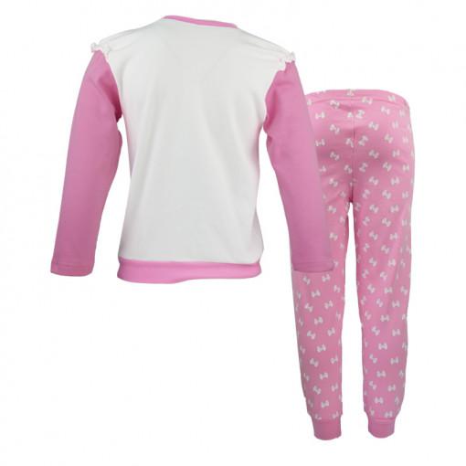 """Πιτζάμες με ροζ μακρυμάνικη μπλούζα και ροζ παντελόνι """"Pretty Little Ballet Girl"""" πίσω μέρος"""