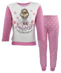 """Πιτζάμες με ροζ μακρυμάνικη μπλούζα και ροζ παντελόνι """"Pretty Little Ballet Girl"""""""
