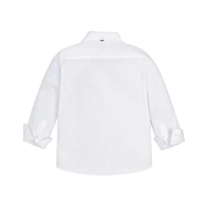 Πουκάμισο λευκό μακρυμάνικο βασικό πίσω μέρος 07c28653da0