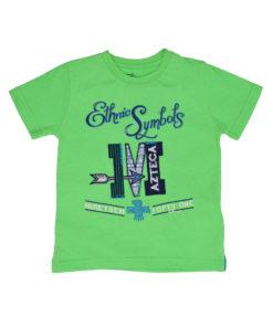 """Πράσινη κοντομάνικη μπλούζα """"Ethnic Symbols"""""""