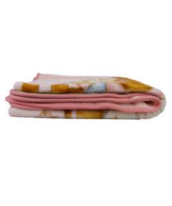 """Ροζ κουβέρτα κούνιας """"Αρκουδάκι"""""""