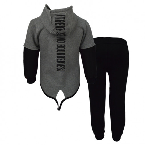 d4f8b77d8927 Σετ γκρι ζακέτα με μαύρη φόρμα παντελόνι