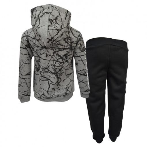 """Σετ γκρι μακρυμάνικη μπλούζα με μαύρη φόρμα παντελόνι """"Air Force"""" πίσω μέρος"""
