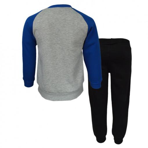 """Σετ γκρι μακρυμάνικη μπλούζα με μαύρη φόρμα παντελόνι """"Taxi"""" πίσω μέρος"""