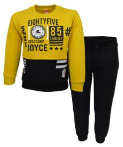 """Σετ κίτρινη μακρυμάνικη μπλούζα με μαύρη φόρμα παντελόνι """"Legend"""""""