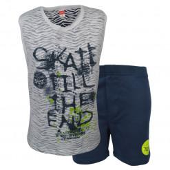 """Σετ κοντομάνικη μπλούζα με μπλε βερμούδα φόρμα """"Skate"""""""