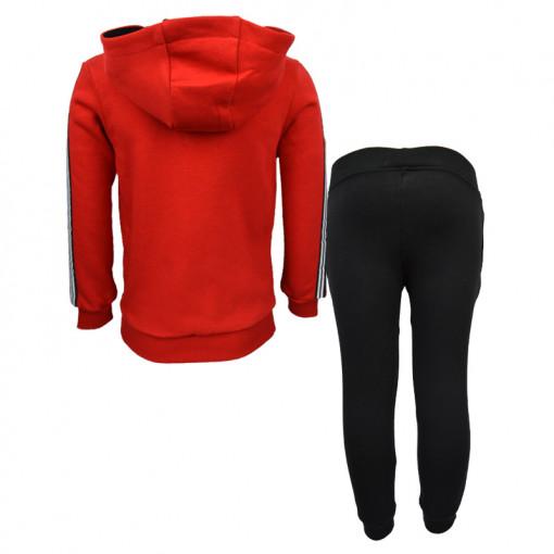 """Σετ κόκκινη μακρυμάνικη μπλούζα με μαύρη φόρμα παντελόνι """"Plus Energy"""" πίσω μέρος"""