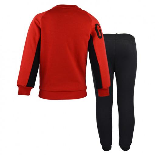 """Σετ κόκκινη μακρυμάνικη μπλούζα με μαύρη φόρμα """"Ust Gan"""" πίσω μέρος"""