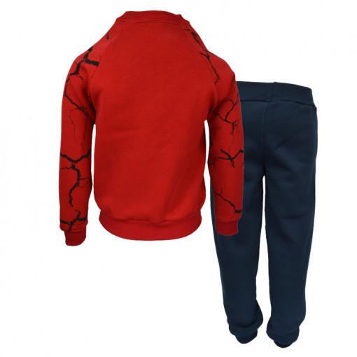 """Σετ κόκκινη μακρυμάνικη μπλούζα με μπλε φόρμα παντελόνι """"Freedom"""" πίσω μέρος"""