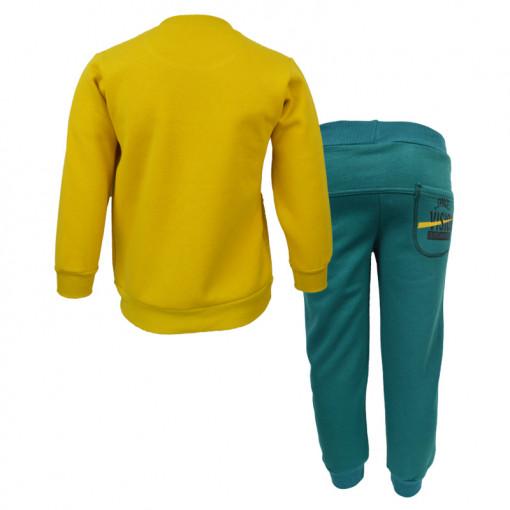 """Σετ μακρυμάνικη μπλούζα κίτρινη με φόρμα παντελόνι πράσινο """"Space Vision"""" πίσω μέρος"""